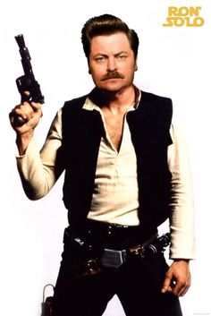 Ron Solo. #StarWars and Parks & Recreation mash-up