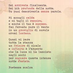 #poetry #poesia #aforismi #poetessascalza #giusynicosia #notte #estate