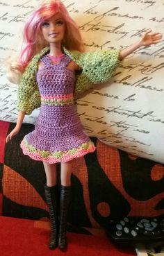 Barbie in lilla