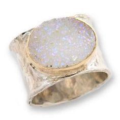 Handmade Gold Silver Druzi Boho Ring, $149.00 | Bohemian Jewelry