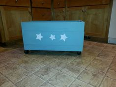 Check out this item in my Etsy shop https://www.etsy.com/listing/191409516/stars-wooden-storage-box-on-wheels