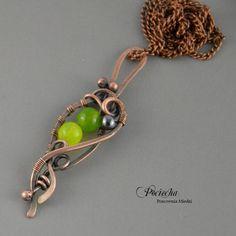 Jade - naszyjnik z wisiorem (proj. Pracownia miedzi - Pociecha), do kupienia w DecoBazaar.com