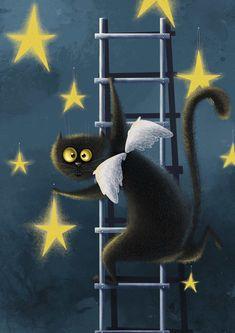 Просмотреть иллюстрацию Звезданутый кот из сообщества русскоязычных художников автора Карина Лемешева в стилях: Детский, Компьютерная графика, Персонажи, нарисованная техниками: Компьютерная графика.