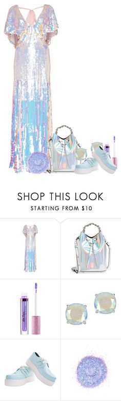 """iridescent kween"" by nerdtastical ❤ liked on Polyvore featuring Temperley London, Kendall + Kylie, Lime Crime, Kate Spade, The Gypsy Shrine, iridescent and limecrime"