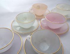 Arcopal Harlequin Opalescent Glass Coffee Tea by TwoTimeVintage, £32.00