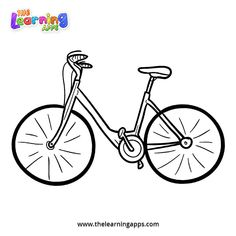 Bicycle Coloring Page For Kids See the category to find more printable coloring sheets. Also, you could use the search box to find what you want. Vegetable Coloring Pages, Coloring Pages For Kids, Printable Coloring Sheets, Learning Apps, In Kindergarten, Bicycle, Printables, Search, Box