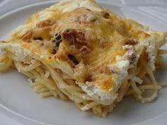 Pörkölt máshogy, sütőben Lasagna, Spaghetti, Ethnic Recipes, Food, Eten, Meals, Noodle, Lasagne, Diet