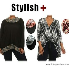 Stylish Fall fashion with Plus sized@ www.lifoapparelusa.com