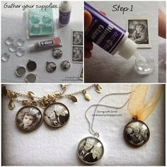 DIY photo pendant. These photo pendant's are really cute, pretty and also very easy to make. …