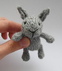 "Small Bunny - Free Knitting Pattern - PDF Format - Click to ""download"" here: http://www.ravelry.com/patterns/library/little-baby-bunny"