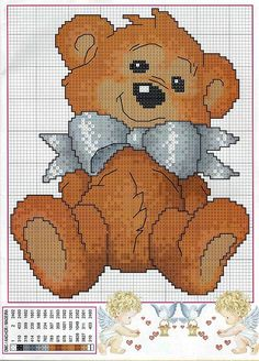Points de croix *@*teddy bear cross stitch