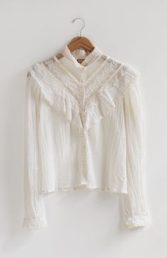 Vintage Layers of Lace Shirt | Everything Golden