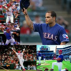 """Pudge"" Rodriguez my number two favorite former ranger! #RangersHoliday"