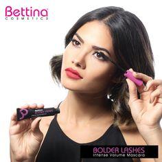 ¿Pestañas con más volumen? Bolder Lashes #Mascara de #BettinaCosmetics. En un empaque único donde puedes usar hasta la última gota. #Makeup
