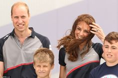 The royal couple visited Sir Ben Ainslie's America's Cup headquarters in Portsmouth, Hamps...