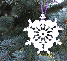 Tree Ornament - Bunny Snowflake