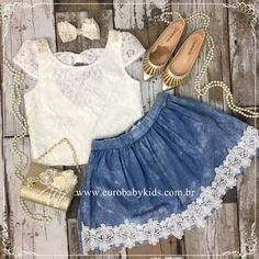 Moda infantil feminina jeans Ideas for 2019 Tween Fashion, Toddler Fashion, Girl Fashion, Womens Fashion, Baby & Toddler Clothing, Toddler Outfits, Kids Outfits, Daisy Dress, Mom Dress