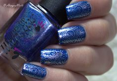 Stamping with Colors by Llarowe Smokey Mountain Memories, OPI Turn on the Haute Light & Infinity Nails Plate No. 85
