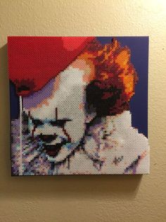 A personal favorite from my Etsy shop https://www.etsy.com/listing/540825462/pennywise-it-bead-art