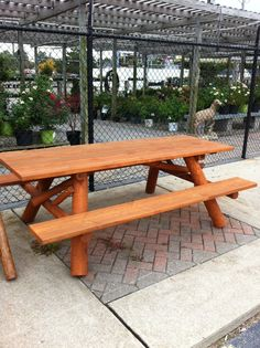 8' Straight Picnic Table - Stained. Original price $443. SALE PRICE $299! Only one available, pick-up only, call 313-766-4950.