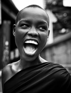 Portrait - Black and White Photography - Smile