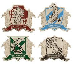 005aed5fea0e6 Harry Potter House Crest Lapel Pin - Gryffindor Slytherin Hufflepuff  Ravenclaw  Bioworld Gryffindor Slytherin Hufflepuff