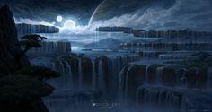 The Falls, Robbie Trevino on ArtStation at https://www.artstation.com/artwork/the-falls