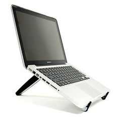 Cosmos Black HARD adjustable/Portable Multiple angle Stand for laptop notebook computer Apple HP DELL Acer Toshiba Lenovo Sony Asus (Laptop is not included) + Cosmos cable tie by Cosmos, http://www.amazon.com/dp/B0053FE422/ref=cm_sw_r_pi_dp_N58prb0RB3PJM