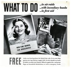 What to do in air raids, with incendiary bombs, in first aid (1942). #vintage #1940s #WW2 #home_front