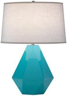 aqua geometric lamp