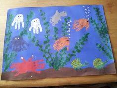 ocean craft handprint fish by lorene