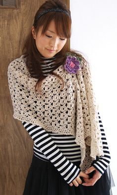 Free Japanese shawl pattern