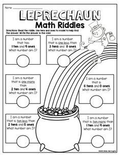 Patrick's Day Math Fun {Tens and Ones - Place Value} 2nd Grade Classroom, 1st Grade Math, Grade 1, St Patricks Day Crafts For Kids, St Patrick's Day Crafts, Homeschool Kindergarten, Teaching Math, Fun Math, Math Activities