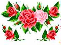 Букет роз K294 Cross Stitch Rose, Cross Stitch Patterns, Floral Wreath, Wreaths, Rose Flowers, Mary, Dots, Floral Crown, Roses