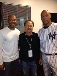 Mariano Rivera, Billy Crystal and Derek Jeter