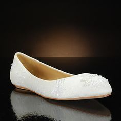 Simple flats - badgley mischka sindee white  Wedding Shoes $135