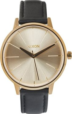 NIXON THE KENSINGTON LEATHER WATCH > Womens > Accessories > New   Swell.com