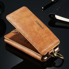 "Floveme Retro PU Leather Magnetic Detachable Wallet Kickstand Case For iPhone 6/6s 4.7"" Sale - Banggood.com"