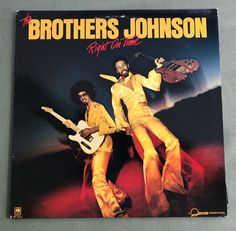 The Brothers Johnson Right On Time Vinyl Record LP  1977  A&M SP-4644  R&B  #Soul