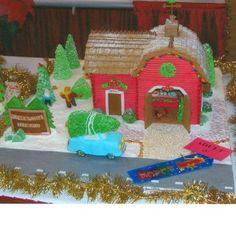 Gingerbread barn, I like the roof