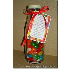 This is a great craft idea. To get the prayer, google easter jellybean prayer. When I tried to get the printed prayer.....it took me to an ADVERTISEMENT....so this is why I recommend to google it.