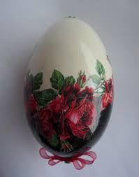 Znalezione obrazy dla zapytania jajka decoupage relief