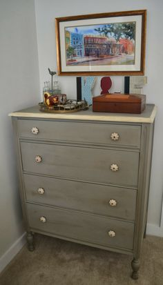 Colors French Linen and Old White...Chalk Paint® by Annie Sloan
