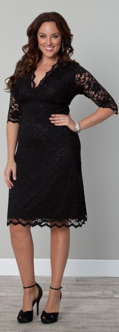 Lace Boudoir Dress in Plus Sizes