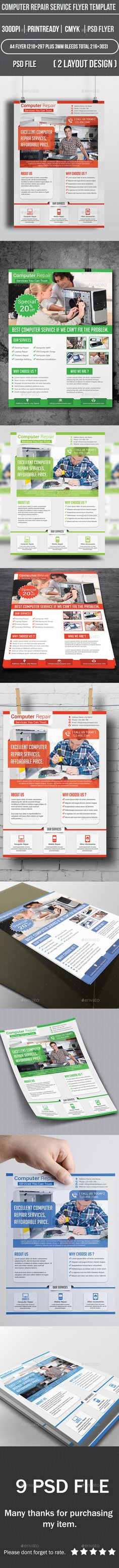Computer Repair Service Flyer Template | Computer Repair Services