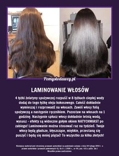 SPRAWDZONY PRZEPIS NA LAMINOWANIE WŁOSÓW! Beauty Care, Diy Beauty, Beauty Makeup, Beauty Hacks, Beauty Recipe, Natural Cosmetics, Bad Hair, Hair Hacks, Beauty Secrets