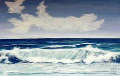 Onda 2 è un opera che segna l'amore che l'autrice ha per il mare, ma anche il suo timore per le onde che l'affascinano ma che non riesce ad avvicinare. Violetta Viola pittrice e decoratrice Novarese. Opera, Waves, Outdoor, Outdoors, Opera House, Outdoor Games, Outdoor Living, Beach Waves, Wave