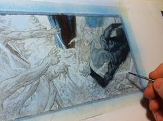 """ArtStation - work in progress: double page of """"Saria 3"""", Riccardo Federici"""