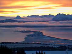 Homer Spit on Winter Solstice, Alaska