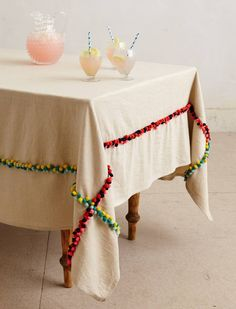 tablecloth from Anthropologie